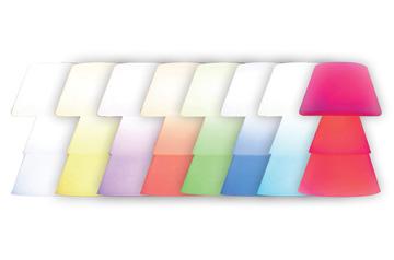 Gamme de toutes les couleurs des lampadaires helio en polyéthylène