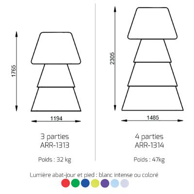 Fiche technique Helio 1 plan 2d et couleurs