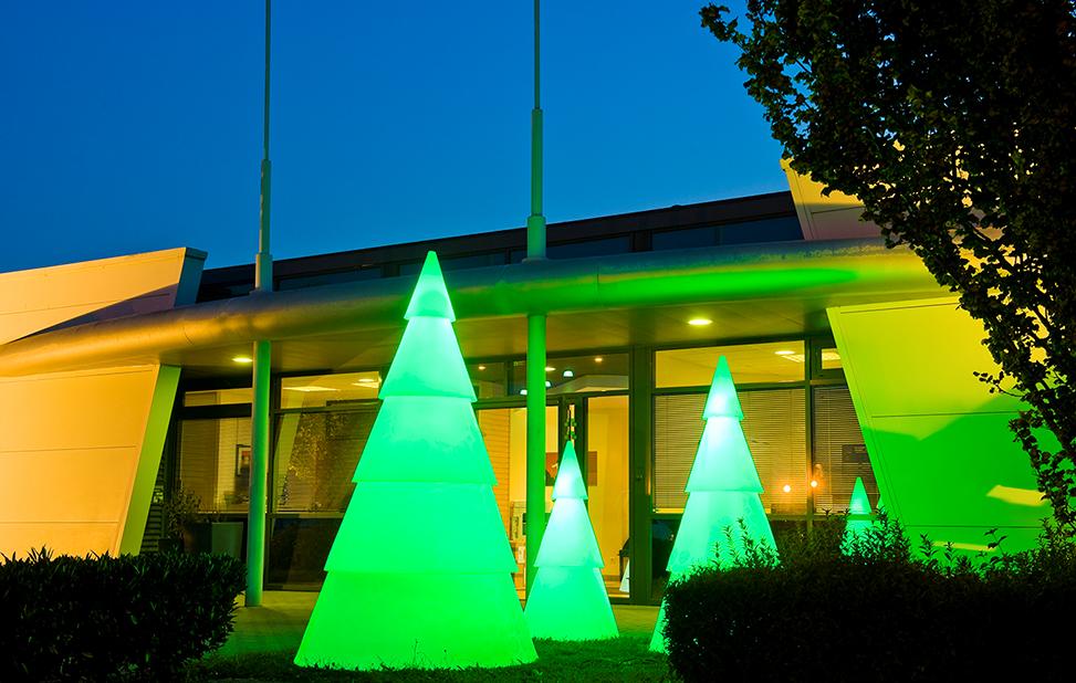 arbre lumineux led exterieur devant maison